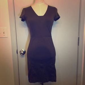 Banana Republic olive green fittted dress